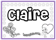 NAME COLORING PAGES~  Tons of first name coloring pages for both girls and boys.  Print out your students' names, or let them color their name online!
