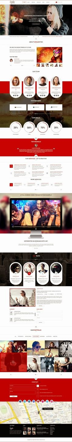 Singler One page Multipurpose Muse Template 2015