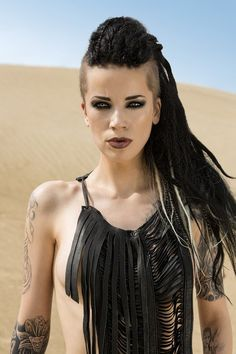 Darkside of Dreadlocks ~ Alternative Dread Fashion. Alternative hair style. Black. Post apocalyptic dystopian.