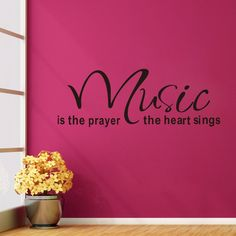 MZY LLC (TM) Music is the prayer the heart sings Inspirational Uplifting Vinyl Wall Decals Home Sticker Quotes Sayings Words Art Decor ** For more information, visit now : DIY : Do It Yourself Today