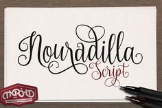 Nouradilla Script Free is a beautiful elegant font. This font is great for wedding invites, cards, signs and much more. Nouradilla Free is a basic version that does not include swashes. Handwritten Typography, Script Logo, Calligraphy Fonts, Modern Calligraphy, Script Type, Free Handwriting, Alphabet, Font Design, Graphic Design