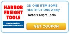 SAVE 25% ON ONE ITEM AT HARBOR FREIGHT TOOLS --- SOME RESTRICTIONS Apply