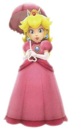 Princess Peach with her umbrella from the official artwork set for #SuperMarioGalaxy 2 on #Wii. #Mario. Visit for more info http://www.superluigibros.com/super-mario-galaxy-2