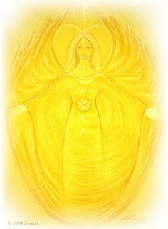 Serami: Gelber Chakra Engel - Solarchakra (Karte / Poster) KMV-Verlag