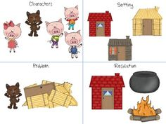 Home Sweet Speech Room : The Three Little Pigs Storybook Companion Language Activities, Book Activities, Preschool Activities, Nursery Rhymes Preschool, Traditional Tales, Three Little Pigs, Kindergarten Literacy, Book Themes, Worksheets For Kids