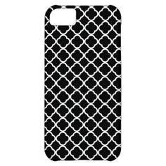 Black And White Quatrefoil Pattern iPhone 5C Case