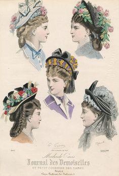 April bonnets, 1875 France