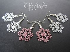 Snowflake Lace Earrings by A5lace on Etsy, €10.00