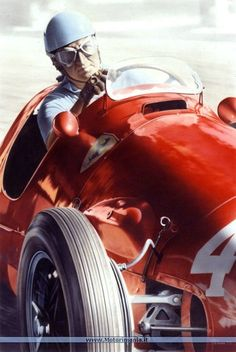 Alberto Ascari racing for Ferrari: