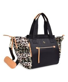Brown Leopard Convertible Tote