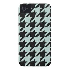 Modern Mint Houndstooth iPhone 4 Case