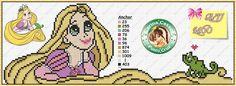Rapunzel perler bead pattern by Carina Cassol - http://carinacassol.blogspot.com.br/