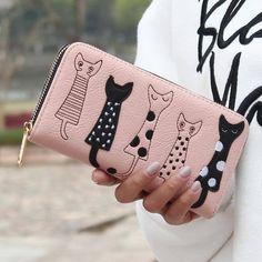 5 Little Cats Clutch & Wallet