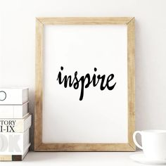 Are you interested in our inspirational motivational quote gift print? With our black white handwriting wall art poster decor you need look no further. Typography Quotes, Typography Prints, Typography Poster, Inspirational Words Of Wisdom, Inspirational Posters, Motivational Quotes, Framed Quotes, Gift Quotes, Messages