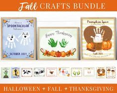 Fall Crafts for Preschoolers, Toddler Handprint Art, Printable Kit, Halloween Crafts, Thanksgiving Cards, Autumn Activities for Kids by HolaSunshineDesigns on Etsy Autumn Activities For Kids, Fall Preschool, Craft Activities, Preschool Crafts, Kid Crafts, Thanksgiving Prints, Thanksgiving Cards, Toddler Arts And Crafts, Handprint Art