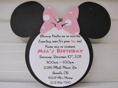 Minnie Mouse Boutique Invitations | 20 Personalized Minnie Mouse Birthday by... review | buy, shop with ...