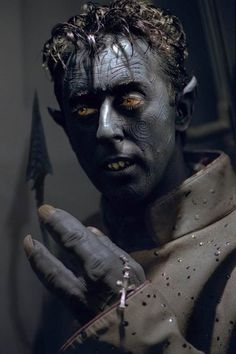 The tattoos are really cool on Nightcrawler.  The teeth prosthetics add to the demon-like quality of him.  The shading of the dark blue would be interesting.