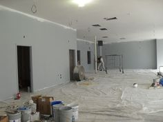 The interior of the store being primed! (April 2011)