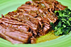If you enjoy cooking with a crockpot, this flank steak recipe is for you. Flank steak is a rather inexpensive cut a meat. If it is not prepared properly, it can be rather tough. This recipe is so easy and makes the most tender flank steak. I pop this in the slow cooker in the afternoon  and forget about it until dinner time!  This recipe has lots of kick! If you prefer a little less spicy, use half the green chiles.