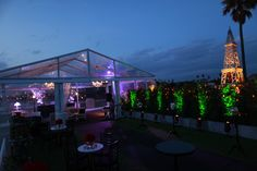 Marquee - Rooftop conversion at the Harbour Room, RMYS, St Kilda Melbourne