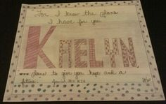 Kaelyn's Jeremiah 29:11, artist credit, d.f.a.v. 2013-14