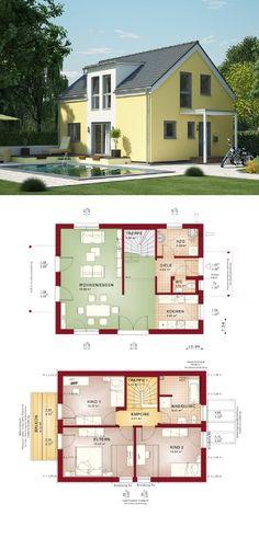 Wunderbar Einfamilienhaus Architektur Mit Satteldach Und Gaube   Haus Grundriss  Evolution 122 V3 Bien Zenker Fertighaus