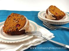 This Gluten-free All In One Holiday Bundt Cake has it all - Pumpkin, Apple, Cranberries and Pecans.