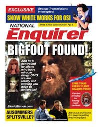 The National Enquirer ; Grandma always gave us the news updates from this reliable source. Real Bigfoot Pictures, Scary Ghost Pictures, Ghost Photos, What Is Fake, Finding Bigfoot, National Enquirer, Real Haunted Houses, Paranormal Photos, Bionic Woman