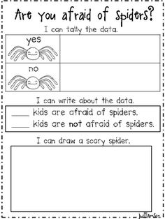 Are you afraid of spiders recording sheet--FREE!