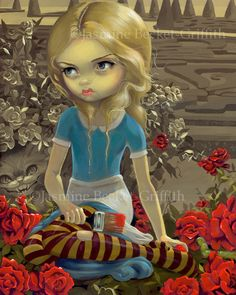 Painting the Roses Red - Strangeling: The Art of Jasmine Becket-Griffith