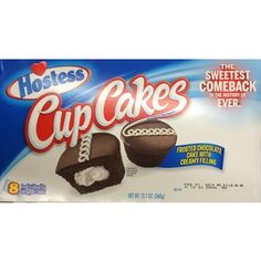 Hostess Chocolate Cupcakes | 12.7oz Hostess Cupcakes Frosted Chocolate Snack Cake with Creamy ... Cupcake Frosting, Cupcake Cakes, Chocolat Cake, Hostess Cupcakes, Chocolate Cupcakes, Food And Drink, Candy, Sweet, Polyvore