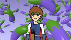 Hero And Eggplants / #Food #Vegetable #Boy #HD #FWXGA