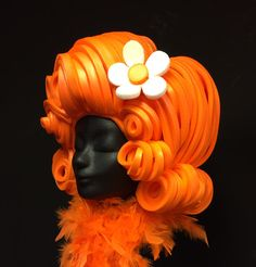Foam Wigs, The Giant Peach, Crazy Hats, Fancy Dress, Halloween Costumes, Orange, Yellow, Xmas, Cute