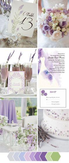 Lavender Rustic Wedding Color Ideas