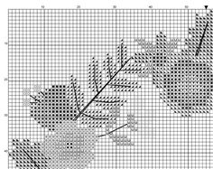 Floral wreath cross stitch pattern pdf  instant par GentleFeather