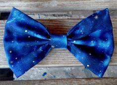 Deep Blue Galaxy Hair Bow. $4.25, via Etsy.