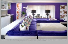 Purple Sofa Design, Pictures, Remodel, Decor and Ideas - page 4 love the kitchen living room layout Eclectic Living Room, Living Room Green, My Living Room, Living Room Designs, Kitchen Living, Home Design, Design Salon, Interior Design, Purple Bedroom Accents