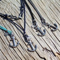 Anchor necklace Nautical rope necklace Anchored от byMarisSal
