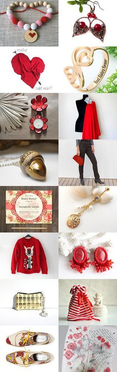 Gold and RED by Sophie R on Etsy--Pinned with TreasuryPin.com