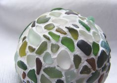 Christmas baubles made from hand picked Devon and Cornish sea glass.