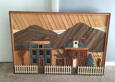 Folk Art, Lath Art, Wood Art, Wood Sculpture, Theodore Degroot, Primitive, Signed