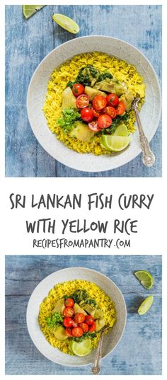 An authentic Sri Lankan fish curry with yellow rice and tomato salsa recipe. Perfect for sharing with friends and family. Easy Salad Recipes, Quick Recipes, Fish Recipes, Seafood Recipes, Beef Recipes, Amazing Recipes, Gluten Free Recipes For Dinner, Healthy Dinner Recipes, Appetizer Recipes