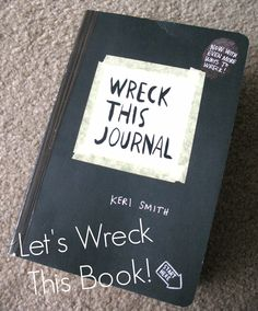 Book review of Wreck This Journal by Keri Smith #blogging #books #art #create