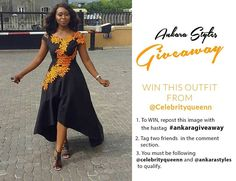 Giveaway still on going!!! Here's an opportunity to win this same dress from @celebrityqueenn. If you are a size 10 or 12 and would love to win this  1. Repost this image with the hashtag  #ankaragiveaway 2. Tag two friends below  3. Make sure you are Following @celebrityqueenn and @ankarastyles  Giveaway ends on Friday!  #ankarastyles#ankarafashion#africanfashion#africanprint#