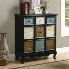 Monarch Specialties I 3893 Apothecary Bombay Chest