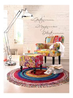 Beautiful Handwebteppich Sessel Hocker Standleuchte Walltattoo u bei heine de