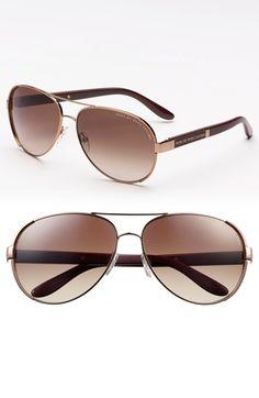 MARC BY MARC JACOBS 60mm Stainless Steel Aviator Sunglasses | Nordstrom
