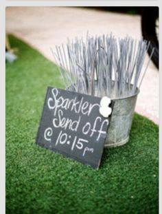 Love this idea for our send off for our texas night wedding  #cupcakedreamwedding