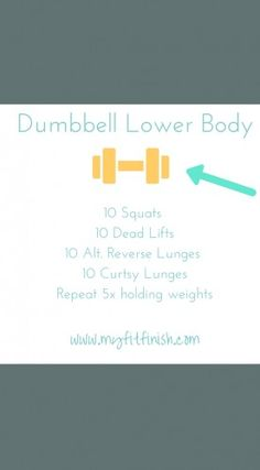 Dumbbell Lower Body workout! Great for runners or to get chiseled legs!