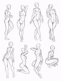 "figuras femininas [   ""Some sketchy copies from one ofKate-FoX"